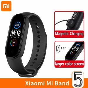 Xiaomi Mi Band 5 Smart Wristbands Braccialetto Schermo AMOLED Miband 5 Smartband Fitness Traker Bluetooth Sport Sport impermeabile Smart Band