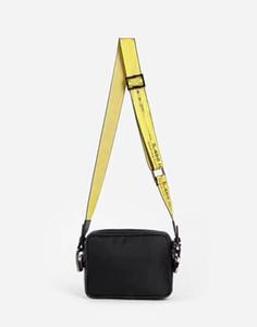 2323 New 2020 Бренд Mini Men off Off Heel Canvas ремень белый наплечный сумка PU на груди на груди талии сумки многоцелевой сумка для нанесения на плечо мессенджер