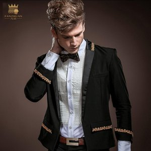 Fanzhuan Free Shipping men's male fashion casual NEW Korean cloth spring autumn dress 3 4 sleeves coat embroidered blazer 14006