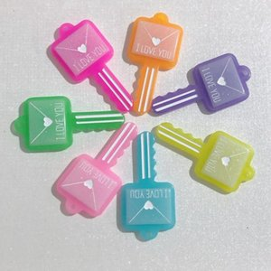 20 50pcs Colorful Jelly Glitter Resin I love You Envelope Key Charms Pendants For Necklace Key Chain Jewelry Making