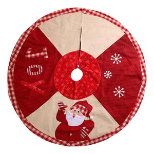 2020 New Tree Skirt Merry Christmas Ornament 102cm Thich cloth Santa Carpet Holiday Party Navidad Decorations kerst Floor Mat