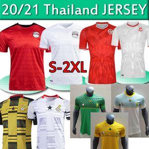 2020 2021 South Soccer Africa Jerseys National Football Football Team EGYP M.Salah # 10 Ghana Tunisia Casa Away Third Uomo Camicie da calcio Thai S-2XL