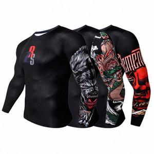 ZERUISI marka erkek 3D baskılı kompresyon tişört Döküntü Guard Uzun Kollu Top Y200409 V2FZ # karşıtı tüylenme kış alt gömlek çabuk kuruyan