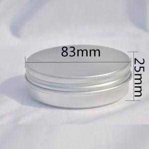 100g aluminum tin jar for cream wax moisturizer essence hand cream art nail tea container skin care cosmetic packing