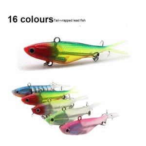 1pcs Sile Vib Jig Hook Whopper Soft 9.5cm 11.5cm Bait Fishing Lure Fake Bait Package Lead Fish Soft Vib L sqccTs