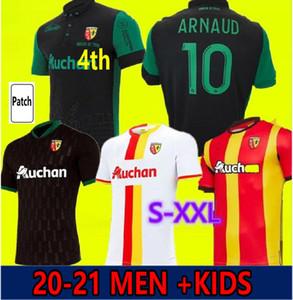 20 21 RC Lens Soccer Jerseys Gradit Forts Cahuzac Perez Kakuta 2020 Sotoca Maillot de pied Camisa Traore Ganago Hommes + Chemises de football pour enfants