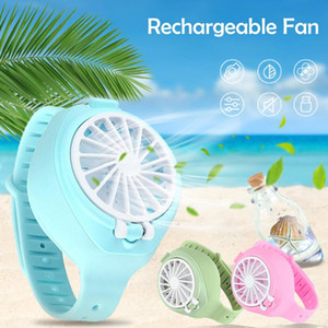 2021 New Fan Watch Handheld Small Fan Small Appliances Creative Air Conditioning Fan Mini Lazy Free DHL