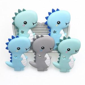 Kovict BPA frei 1PC Dinosaurier Silikon-Baby-Beißring Nagetier Baby-Greiflinge Chewable Tier Produkte Form Nursing Gift 3Eil #