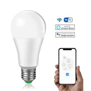 15W WiFi Smart Light Bulb B22 E27 LED Lamp Work with Alexa Google Home 85-265V White Dimmable Timer Function Magic Bulbs