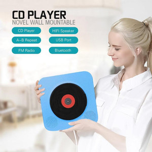 BEESCLOVER HiFi Speakers MP3 Wall Mountable CD Player Portable Bluetooth Music Player with Remote Control FM Radio r57