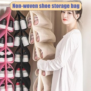 Shoes Storage Hanging Bag Dustproof Organizer Rotatable for Closet Household Bedroom YU-Home
