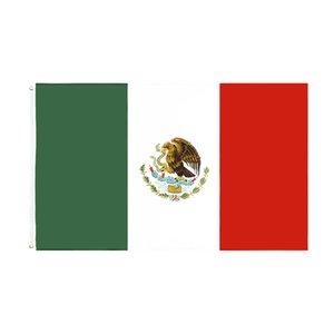 gros usine directe prêt pour l'expédition 3x5 Fts 90x150cm mx Mexicanos mexicain drapeau MEX du Mexique DHB2174