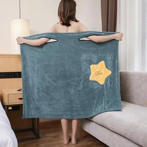 Donne Asciugamano da bagno indossabile Asciugamano puro Cotton Accappatoio Spa Bretelle Spa Gonna involucro Asciugamani Asciugamani Super Assorbente Tessile per la casa GWC5549