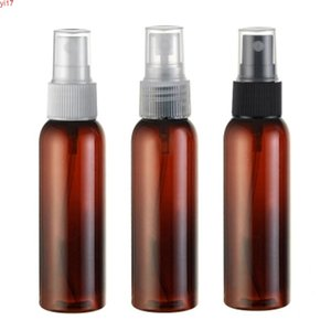 30pcs 60ml brown Empty Plastic Perfume spray Bottle , 60cc PET plastic container ,60g Cosmetics packaging containerhigh qiantity