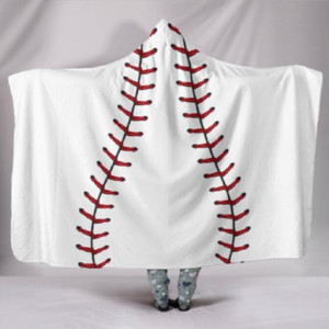 Wholesale Adult Sports Hooded Blanket Baseball Beach Wrap Cotton Hooded Cover Blankets Towel DOM-1081079