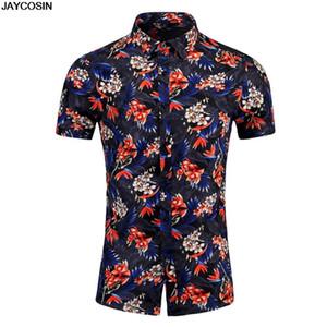 KLV shirts Hawaiian Shirt Men Clothes 2020 new Summer Camisa Havaiana Shirts Printed Short Sleeve Mens Sandy Beach Wear 0117