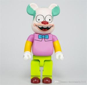 뜨거운 400 % 28cm Bearbrick Simpsons 곰 인물 장난감 콜렉터를위한 장난감 @ rbrick 아트 작업 모델 장식 완구
