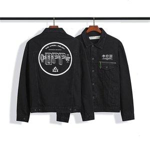 Autumn ow trend men's fashion basic letter washed and worn denim jacket coatHPZ93VJPSND7