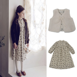 EnkeliBB Lo*ella Korea Brand Kids Girl Flower Long Dress Autumn Winter New Arrivals Toddler Long Sleeve Floral Tutu Dresses 201128