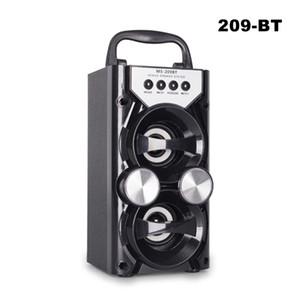 MS-209BT Красочный Bluetooth двойной беспроводной динамик портативный внутренний открытый открытый беспроводной Bluetooth-динамики с USB / TF / AUX / FM-радио