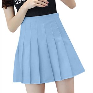 Women Fashion High Waist Pleated Skirt Slim Waist Casual Anti Light Tennis Skirts Lady Cute Sweet Girls Dance A Line Skirt Yl5