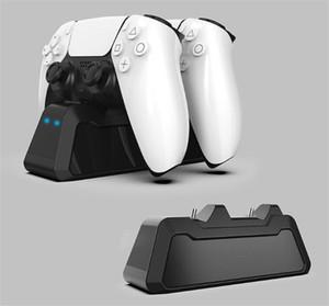 Dupla cobrança doca para o jogo sem fio PS5 LED controlador super forte magnética Playstation 5 Magro pro Mini porta USB Charger livre DHL