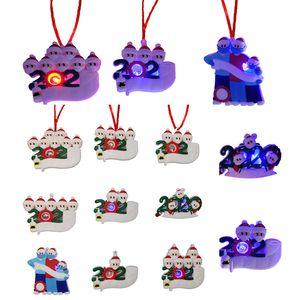 Christmas Quarantine Ornament Christmas Tree Decorations 2020 Personalized Family Christmas Gift DIY Survivor Family Holiday Craft Instock