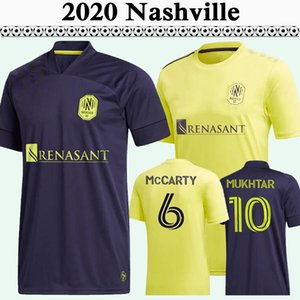 2020 2021 McCarty Badji Mukhtar Mens Sc de futebol Jerseys Nova Nashville Home Away Camisa de Futebol Leal Daniel Rios Zimmerman Manga Curta