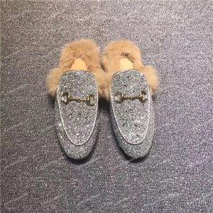 Top Femmes Hommes Chaussures Baskets Mocassins Sandales pour dames Pantoufles Désinvoltes en cuir véritable fourrure Pantoufles Boucle Motif serpent Chaussures Espadrilles