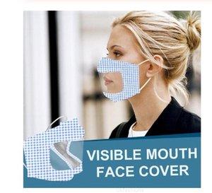 Прозрачные женщины всплеск напечатанные защитные защитные губы лица лица визуальный щит для лица прозрачный лицевой крышка пыль защитный протектор