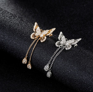 Women's butterfly brooch brooch fashion temperament versatile suit coat cardigan big pin elegant and generous Korean accessories