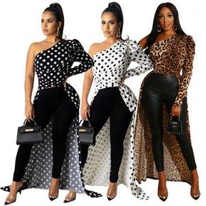 더하기 여성 긴 소매 원피스 프린트 레이디 셔츠 Maxi Dress Long Top Beach Cover UP1