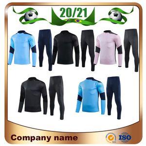 20/21 City Pullover Training Fussball Trikots 2021 De Bruyne Kun Aguero G.jesus Langärmeln Ziehen Reißverschluss Football Training Anzug