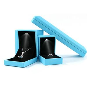 LED Lamp Jewellery Box Propose Ring Bracelet Pendant Box Valentine Jewelry Gift Romantic Propose Wedding Ring