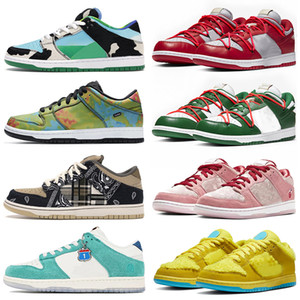 schuhe nike sb dunk low off white Chunky Dunky Civilist Kasina Air Rubber Dunks Chicago Valentine Frauen Männer Sport Turnschuhe Laufschuhe Herren Athletic Trainer
