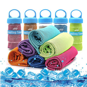 Microfiber Fabric Sports Towel Ice Face Quick Instant Cooling Towel Summer Quick Dry Beach for Fitness Yoga Fishing Towels