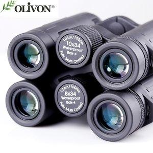 olivon five-color-bird binocular telescope of 8x34 10*34 series telescope suit for outdoor child gift binoculars telescopio
