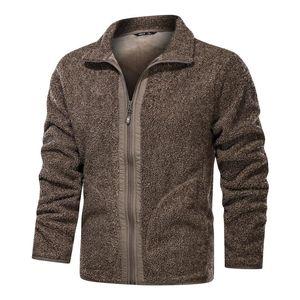 Fashion Plus Fleece Jackets Men's Casual Teddy Velvet Jacket Coat Tops Winter Warm Outdoor Waterproof Sports Windproof Clothes