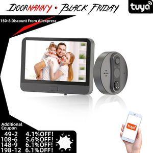 Doornanny Tuya Smart Video Doorbell 720P Wifi Vídeo Peephole App Remoto Conversação Dual-Way Conversa Smart Doorbell Sem Fio WiFi1