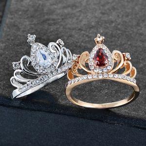 Anello di alta qualità Top anelli creativo gioielli in lega di diamante elettrolittico gioielli diamante zirconi anello anello corona a forma di corona anello diamante