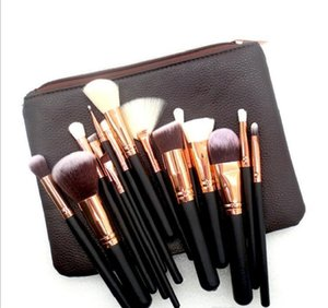 New Fashion Designer Makeup Brush 15PCS Set Brush With PU Bag Professional Brush For Powder Foundation Blush Eyeshadow