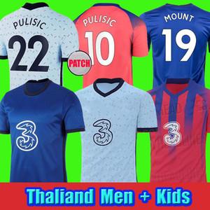 CFC Pulisic Ziyech Havertz Kante Werner Abraham Chilwell Mount Jorginho Soccer Jersey 2020 2021 جيرود كرة القدم قميص 20 21 رجلا + أطفال كيت