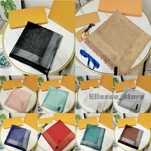 Con caja Bolsa de regalo Etiqueta de recibo Bufandas de calidad superior para mujeres Bufanda de invierno para hombre luxe Cálido Imitación de lana Bufandas de cachemira