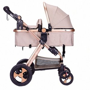 2020Luxury 3 в 1 Детская коляска High Landscape Детские Carrier Big Space для 0-36 Months автомобиля tuy8 сиденья #