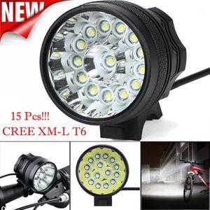 34000 LM 15X CREE T6 LED 3 Modi Fahrradlampe super helle LED Fahrradscheinwerfer Radlack mit Gummiring wasserdicht Aluminium1