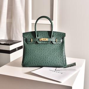 Designer di Lusurys Borse La nuova borsa da donna in vera pelle di alta qualità Borsa da donna in pelle di luxurys Borse a tracolla modello Ostrich