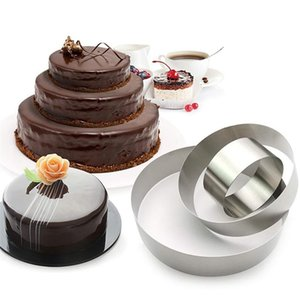 Round Mousse Cake Mould Soft Durable Food Grade Stainless Steel Pastry Ring Baking Diy Mold Kitchen Cooking Tool 3pcs Hot yxlqZJ sports2010