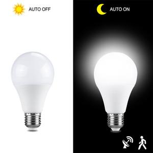 led sensor bulb 10w 15w 20w 25w e27 dusk to dawn smart light bulb ac85v265v day night light auto on off led lamp