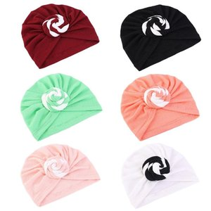 BOHEMIAN Pre-legato Bonnet Turban Hat Spiral annodato solido headwrap beanie cap Q0KE