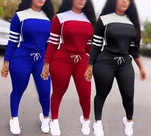 Womens Two Piece Sets woman Outfits sweat suits Jogging Sport Suit Long Sleeve Hoodies Pants tracksuits Sportswear Fitness Tracksuit